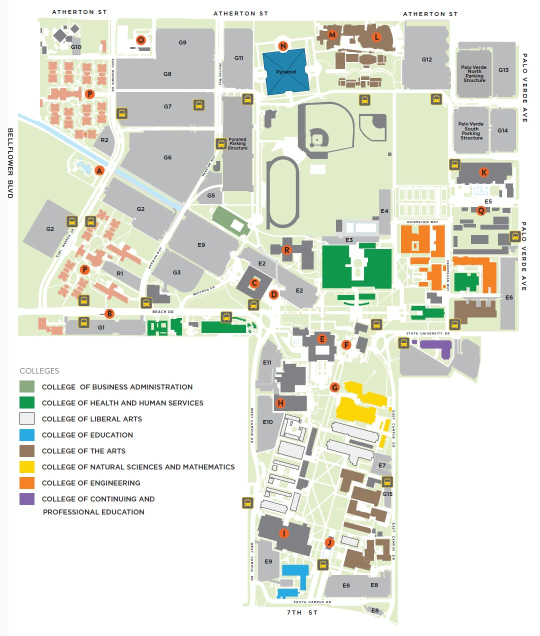 Campus Map Long Beach State University